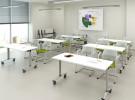 Мобильные складные столы для учебных классов GDB Connect