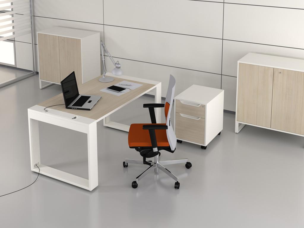 Рабочие места со встроенным кабель-менеджментом las mobili l.